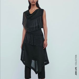 Fringe top and pareo pants